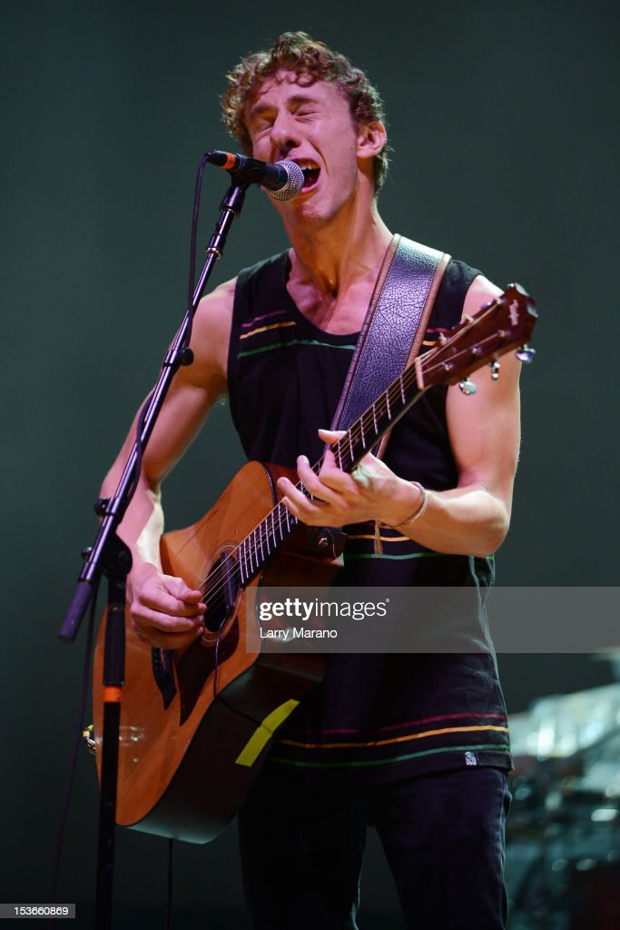Taylor Guarisco of Givers performs at Bayfront Park Amphitheater on October 7, 2012 in Miami, Florida.
