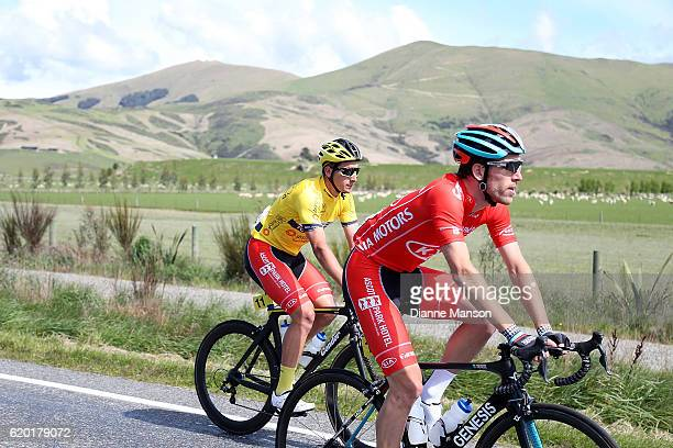 Taylor Gunman of Auckland and Tour Leader Alex Frame of Christchurch make their way to Coronet Peak from Mossburn during stage three of the 2016 Tour...