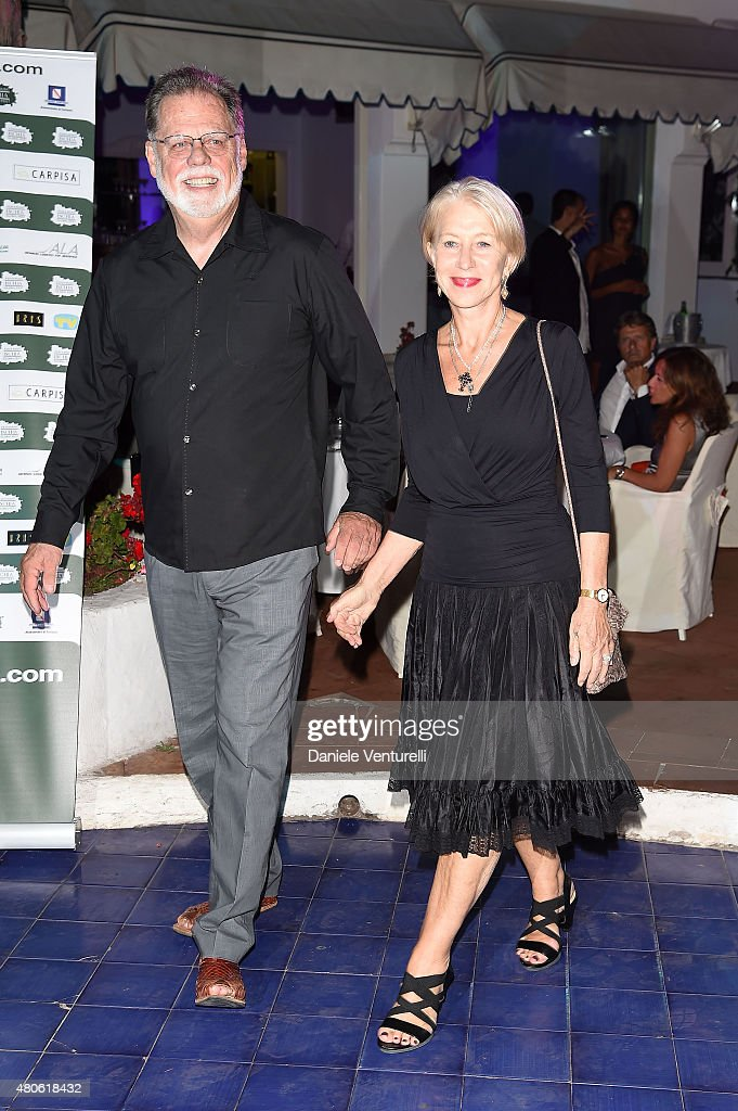 Taylor Hackford and actress Helen Mirren attend 2015 Ischia Global Film & Music Fest Day 1 on July 13, 2015 in Ischia, Italy.