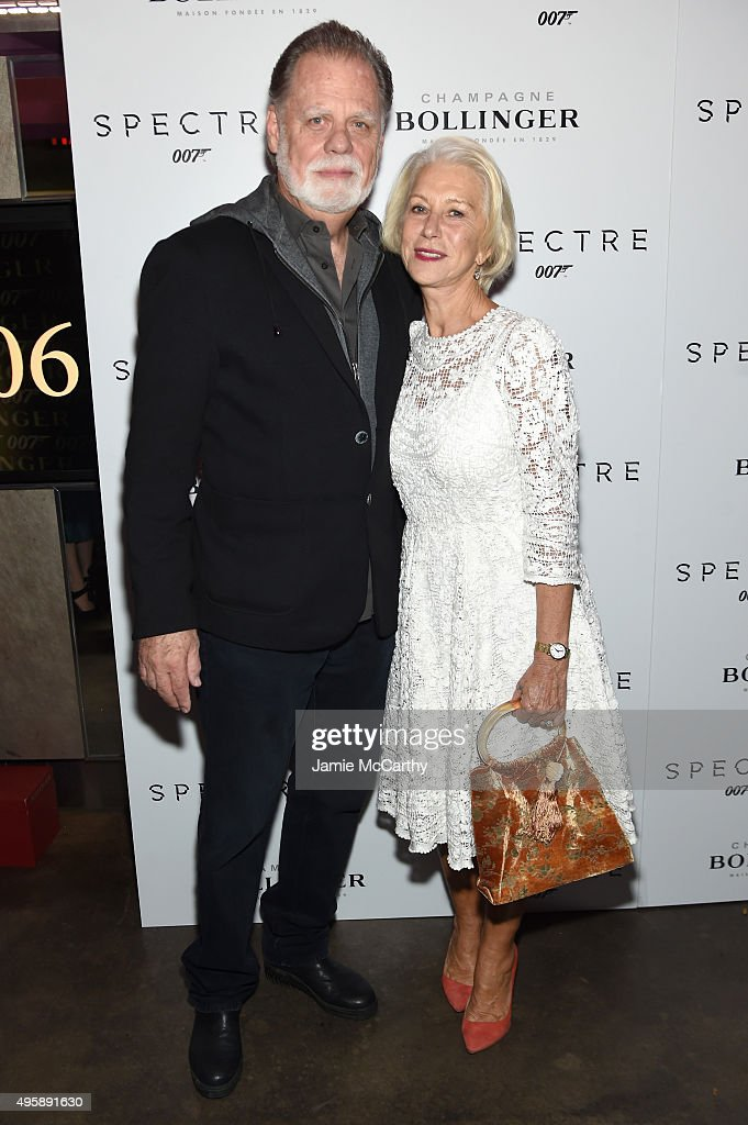 Taylor Hackford and Actress Helen Mirren attend the 'Spectre' prerelease screening hosted by Champagne Bollinger and The Cinema Society at the IFC...