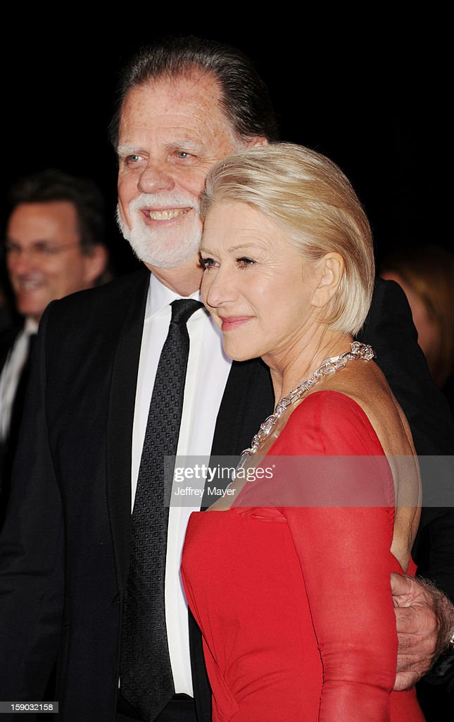 Taylor Hackford and Dame Helen Mirren arrive at the 24th Annual Palm Springs International Film Festival - Awards Gala at Palm Springs Convention Center on January 5, 2013 in Palm Springs, California.