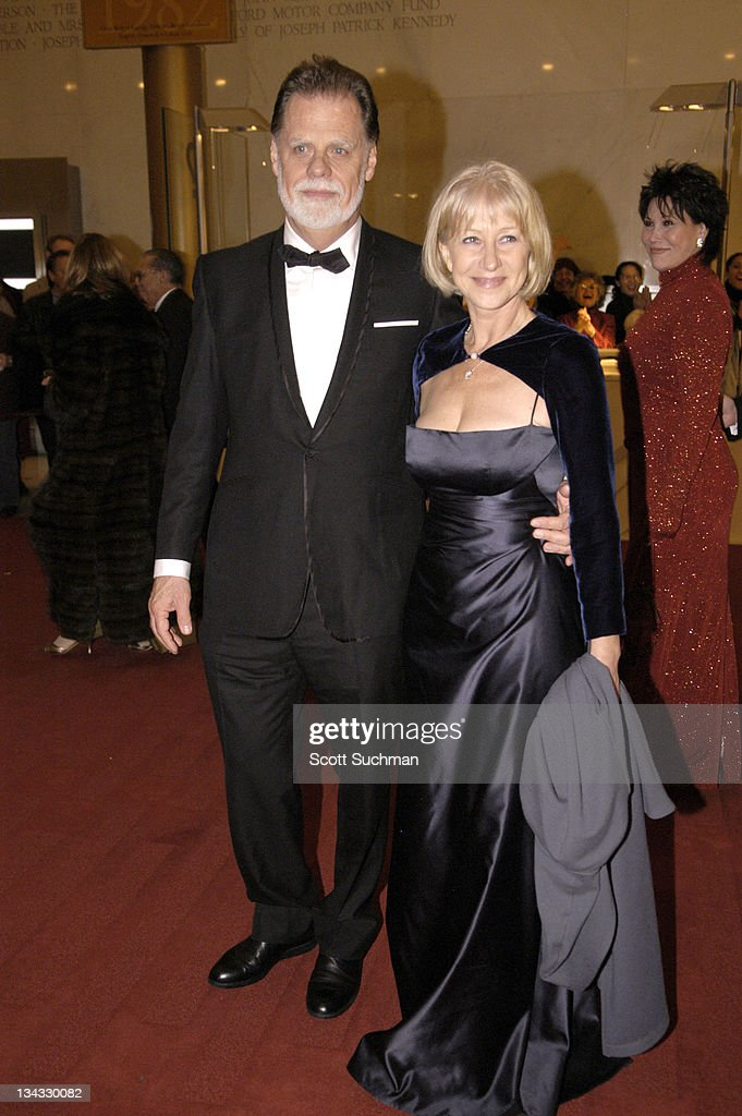 Taylor Hackford and Dame Helen Mirren during 2005 Kennedy Center Honors at Kennedy Center Opera House in Washington DC United States