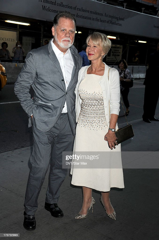 Taylor Hackford and Helen Mirren are sighted on July 16, 2013 in New York City.