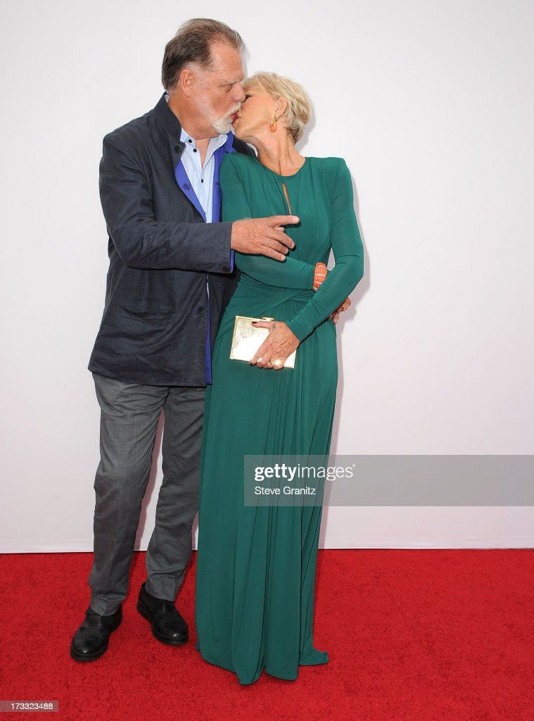 Taylor Hackford and Helen Mirren arrives at the 'RED 2' - Los Angeles Premiere at Westwood Village on July 11, 2013 in Los Angeles, California.