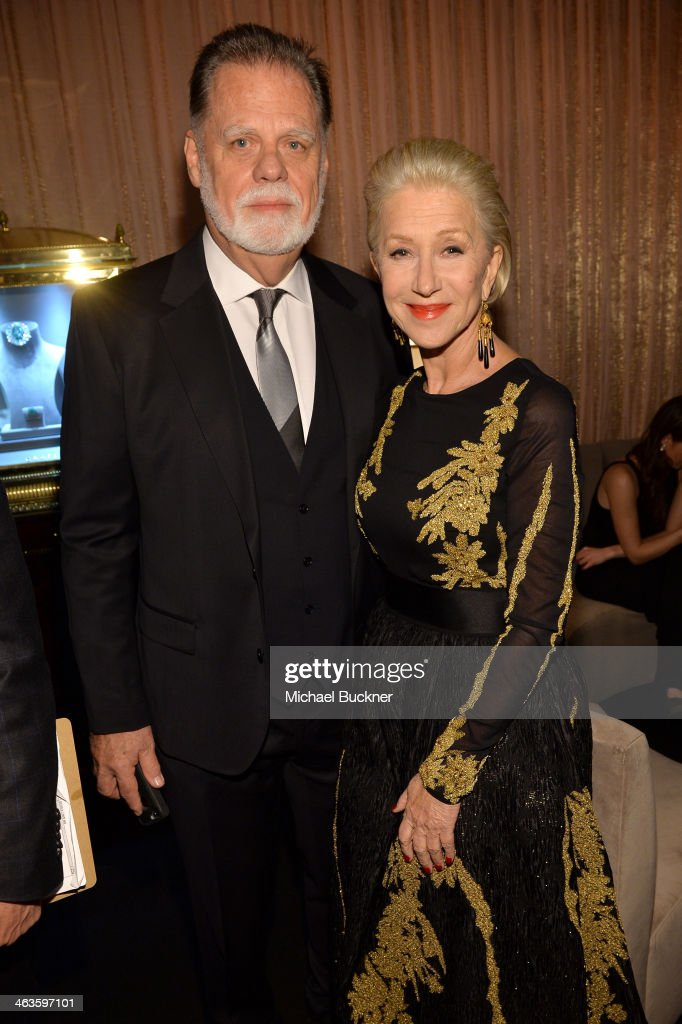 Taylor Hackford and Helen Mirren attend the 20th Annual Screen Actors Guild Awards at The Shrine Auditorium on January 18 2014 in Los Angeles...