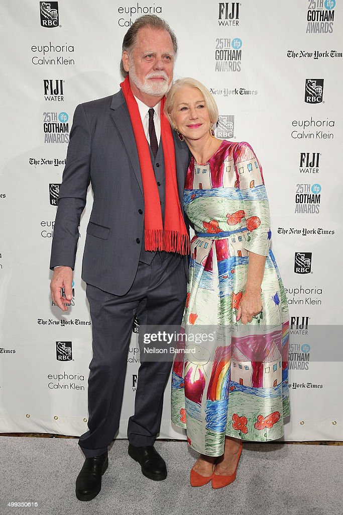 Taylor Hackford and Helen Mirren attend the 25th IFP Gotham Independent Film Awards cosponsored by FIJI Water at Cipriani Wall Street on November 30...