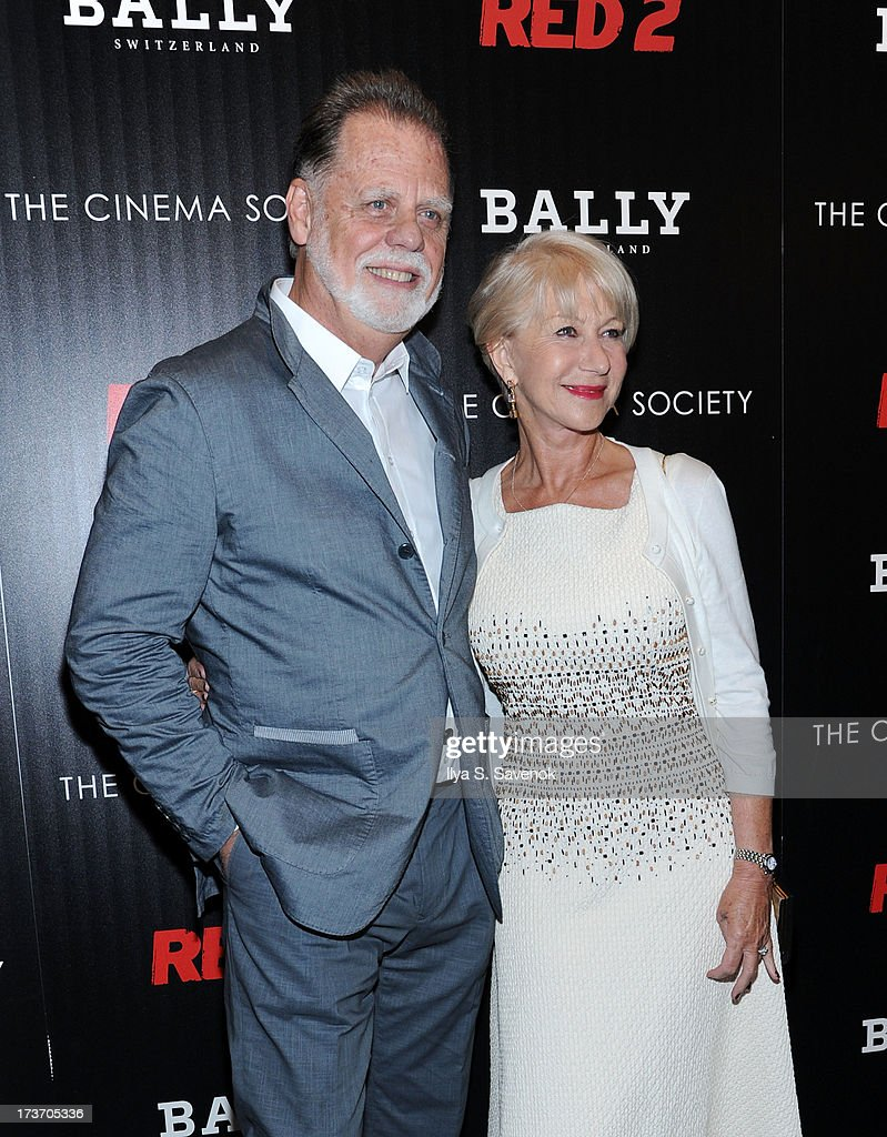 <a gi-track='captionPersonalityLinkClicked' href=/galleries/search?phrase=Taylor+Hackford&family=editorial&specificpeople=202623 ng-click='$event.stopPropagation()'>Taylor Hackford</a> and <a gi-track='captionPersonalityLinkClicked' href=/galleries/search?phrase=Helen+Mirren&family=editorial&specificpeople=201576 ng-click='$event.stopPropagation()'>Helen Mirren</a> attend The Cinema Society And Bally Host A Screening Of Summit Entertainment's 'Red 2' at The Museum of Modern Art on July 16, 2013 in New York City.