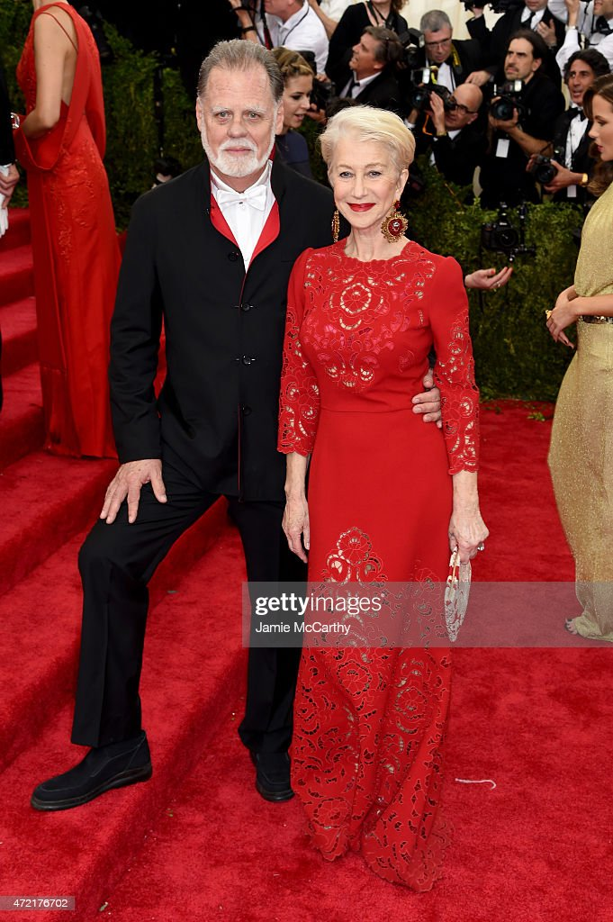 Taylor Hackford and Helen Mirren attends the 'China Through The Looking Glass' Costume Institute Benefit Gala at the Metropolitan Museum of Art on...