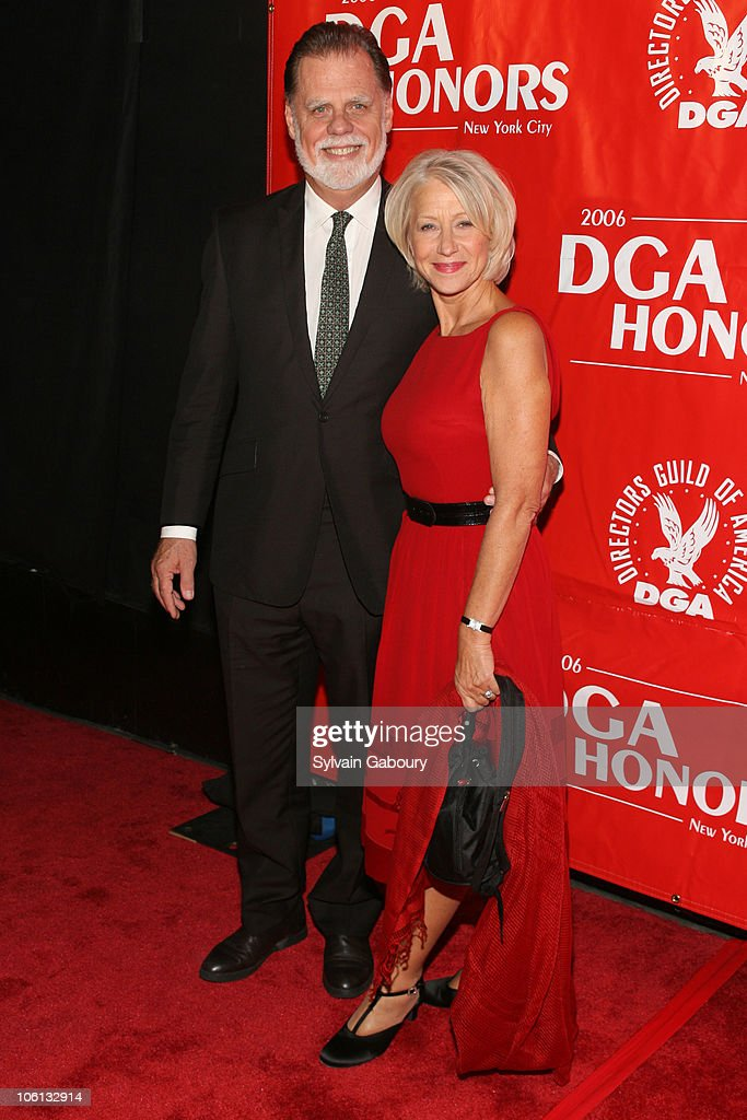 Taylor Hackford and Helen Mirren during 2006 DGA Honors New York City Red Carpet at DGA Theater at 110 West 57th Street in New York City New York...
