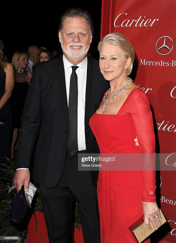 Taylor Hackford and vHelen Mirren arrives at the 24th Annual Palm Springs International Film Festival at Palm Springs Convention Center on January 5, 2013 in Palm Springs, California.