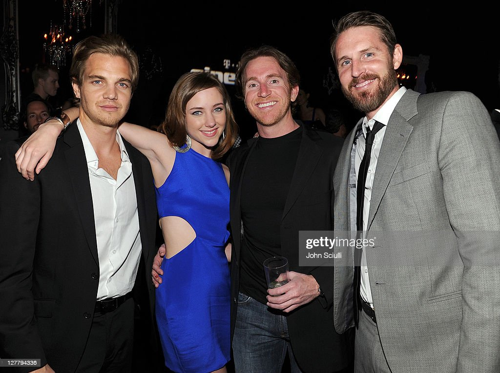 Taylor Handley, Hayley Ramm, Brandon Freeman, Anthony Burns attend the 'Skateland' after party on May 11, 2011 in Hollywood, California.