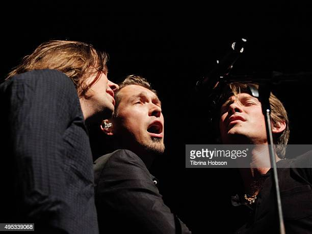Taylor Hanson Isaac Hanson and Zac Hanson of Hanson perform at The Fonda Theatre on November 1 2015 in Los Angeles California
