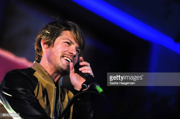 Taylor Hanson of Hanson performs at the Grammy Block Party during SXSW Music at the Four Seasons Hotel on March 16 2017 in Austin Texas