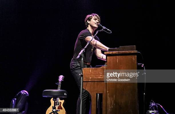Taylor Hanson of Hanson performs on stage at Indigo2 at O2 Arena on December 8 2013 in London United Kingdom