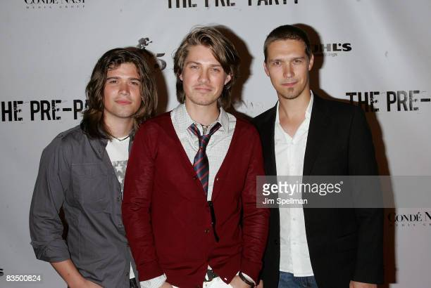 Taylor Hanson Zachary Hanson and Isaac Hanson of Hanson attend the Fashion Rocks PreParty at Mansion on September 4 2008 in New York City
