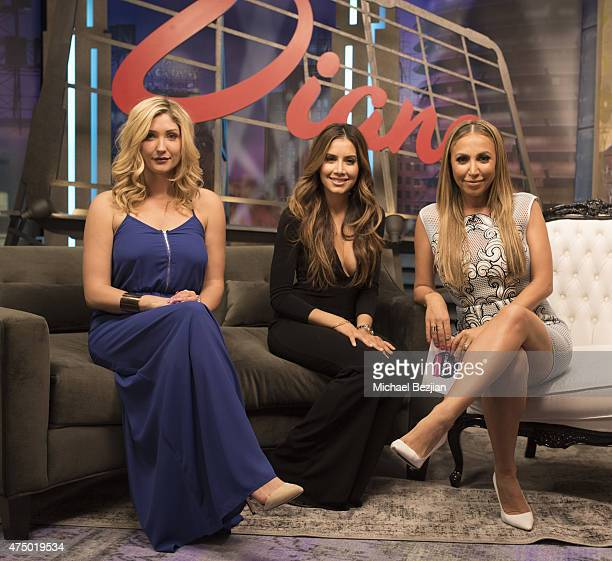 Taylor Hasselhoff Asifa Mirza and Diana Madison on the set at The Lowdown with Diana Madison on May 28 2015 in Hollywood California