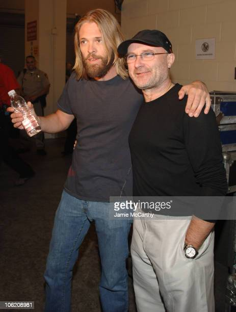 Taylor Hawkins of Foo Fighters and Phil Collins of Genesis