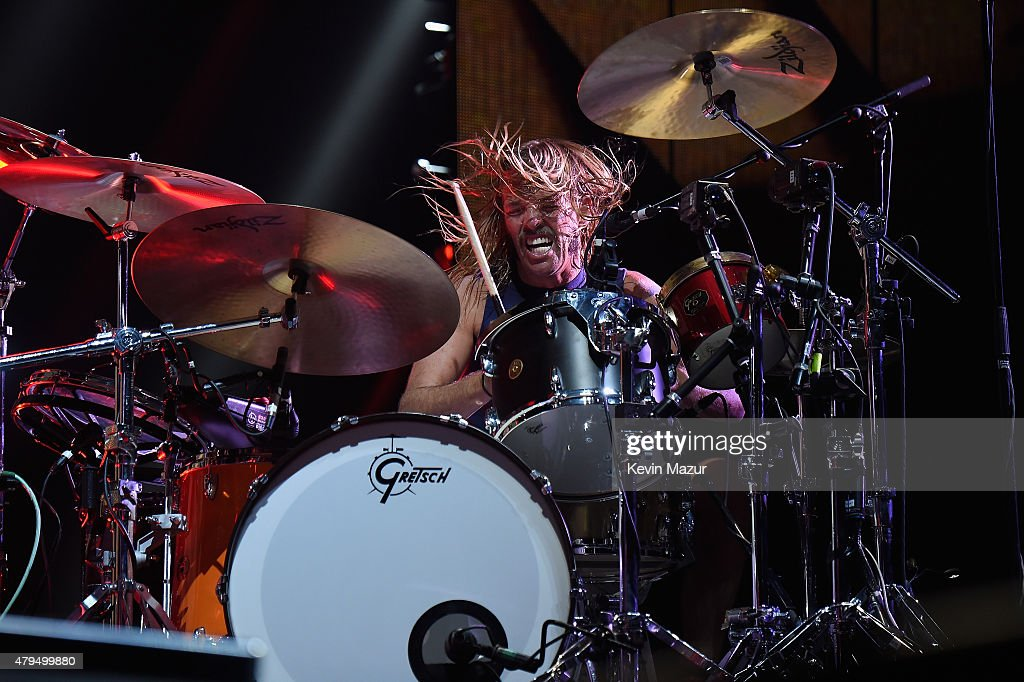 Taylor Hawkins of Foo Fighters performs onstage during the Foo Fighters 20th Anniversary Blowout at RFK Stadium on July 4, 2015 in Washington, DC.