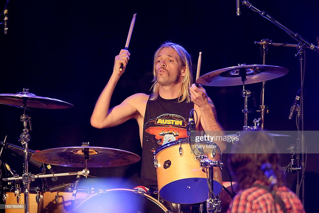 Taylor Hawkins performs in concert at the Sound City showcase at Stubbs BBQ during the South By Southwest Music Festival on March 14, 2013 in Austin, Texas.