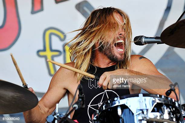 Taylor Hawkins performs with his band 'Chevy Metal' at Jack FM's 11th Show at Irvine Meadows Amphitheatre on September 23 2016 in Irvine California