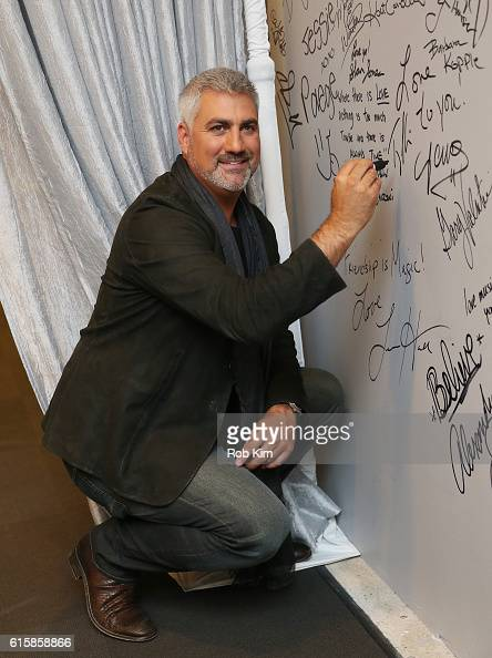 Taylor Hicks signs his autograph at the Build Series at AOL HQ on October 20 2016 in New York City