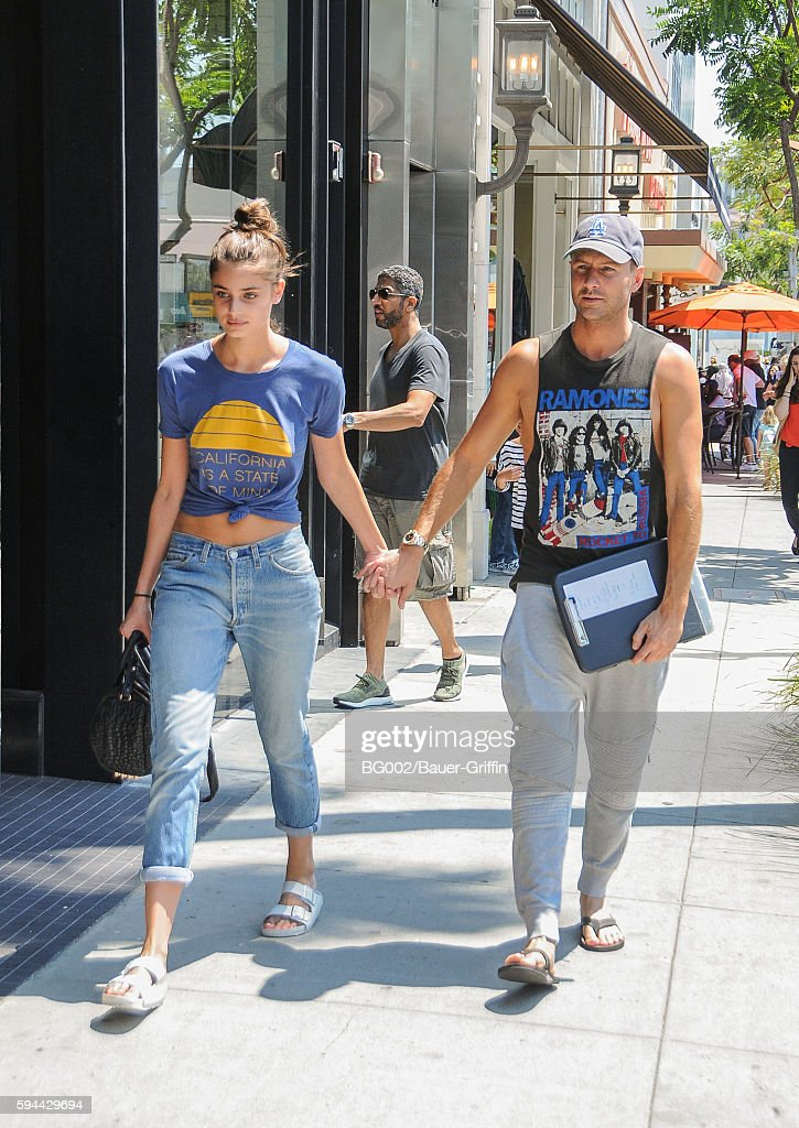 Taylor Hill and Michael Shank are seen on August 23 2016 in Los Angeles California