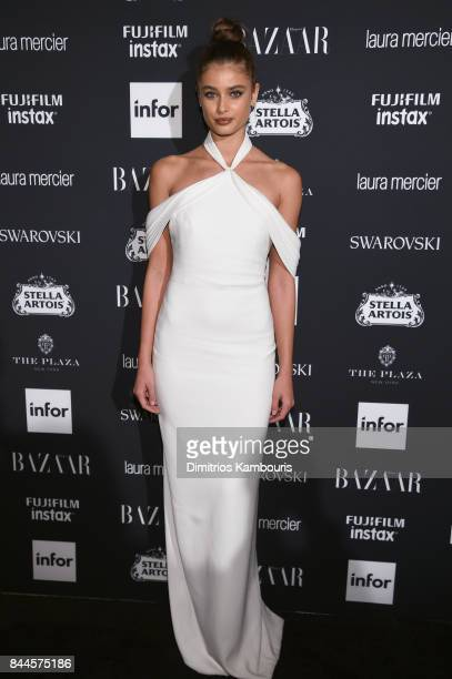 Taylor Hill attends Harper's BAZAAR Celebration of 'ICONS By Carine Roitfeld' at The Plaza Hotel presented by Infor Laura Mercier Stella Artois...