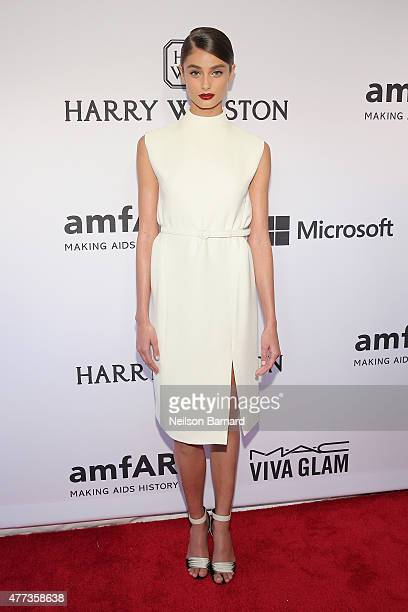 Taylor Hill attends the 2015 amfAR Inspiration Gala New York at Spring Studios on June 16 2015 in New York City