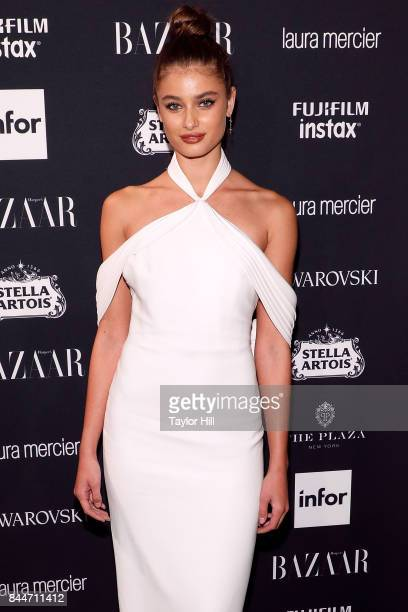 Taylor Hill attends the 2017 Harper ICONS party at The Plaza Hotel on September 8 2017 in New York City
