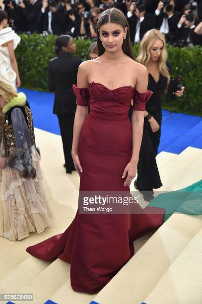 Taylor Hill attends the 'Rei Kawakubo/Comme des Garcons Art Of The InBetween' Costume Institute Gala at Metropolitan Museum of Art on May 1 2017 in...