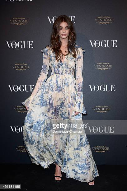 Taylor Hill attends the Vogue 95th Anniversary Party Photocall as part of the Paris Fashion Week Womenswear Spring/Summer 2016 on October 3 2015 in...