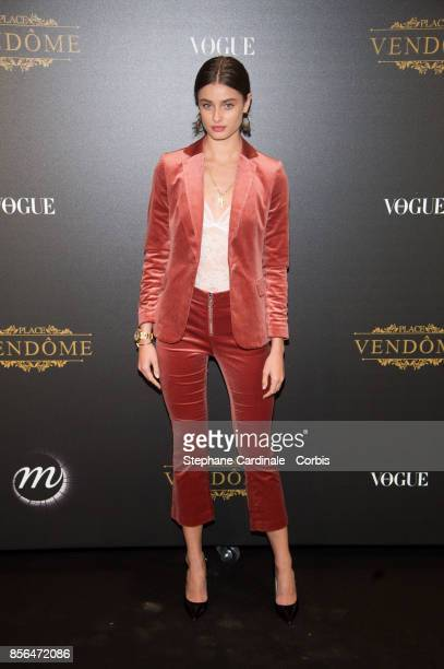 Taylor Hill attends Vogue Party as part of the Paris Fashion Week Womenswear Spring/Summer 2018 at on October 1 2017 in Paris France