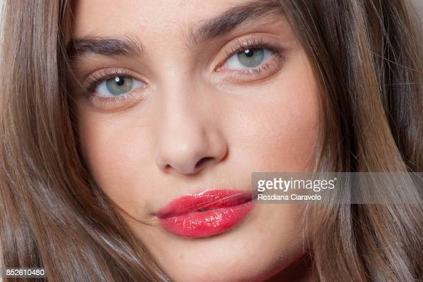 Taylor Hill is seen ahead of the Philosophy By Lorenzo Serafini show during Milan Fashion Week Spring/Summer 2018 on September 23 2017 in Milan Italy