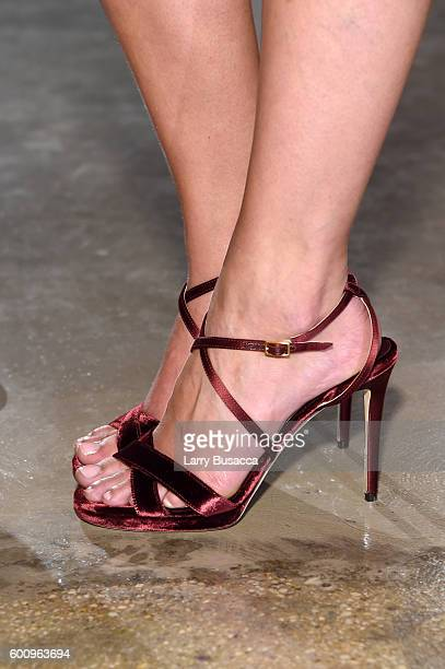 Taylor Hill shoe detail attends the Jimmy Choo 20th Anniversary Event during New York Fashion Week on September 8 2016 in New York City