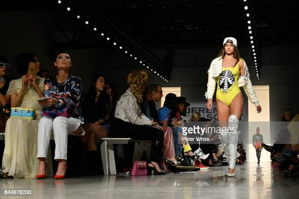 Taylor Hill walks the runway during the Jeremy Scott fashion show during New York Fashion Week on September 8 2017 in New York City