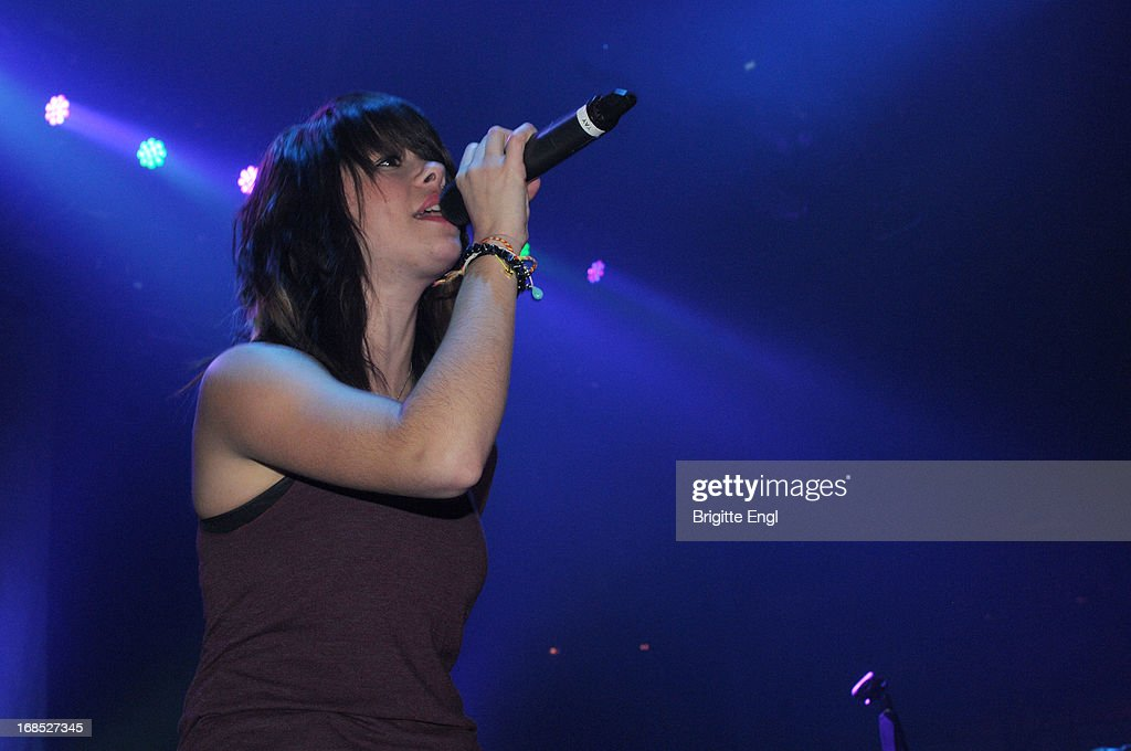 Taylor Jardine of We Are The In Crowd perform on stage at The Roundhouse on May 10, 2013 in London, England.