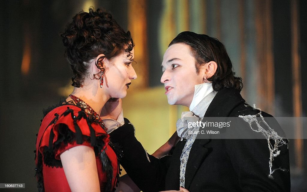 Taylor Jay-Davies as young Pip and Grace Rowe as Estella attend a photocall for 'Great Expectations' at Vaudeville Theatre on February 4, 2013 in London, England.