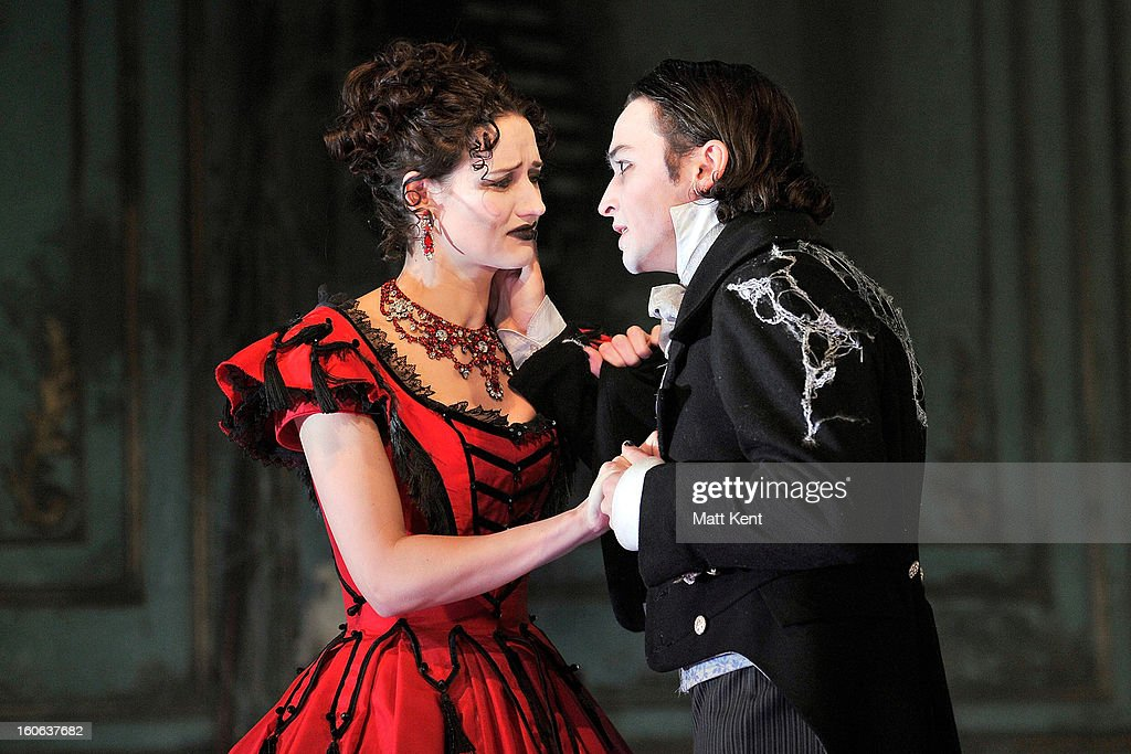 Taylor Jay-Davies as Young Pip (R) and Grace Rowe as Estella pose during a photcall for 'Great Expectations' at Vaudeville Theatre on February 4, 2013 in London, England.