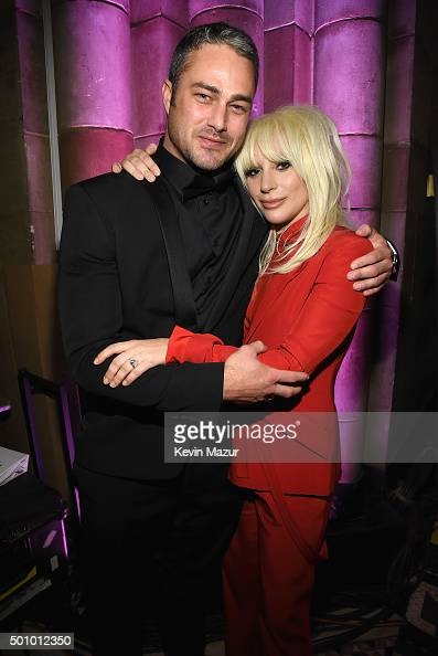 Taylor Kinney and Lady Gaga attend Billboard Women In Music 2015 on Lifetime at Cipriani 42nd Street on December 11 2015 in New York City