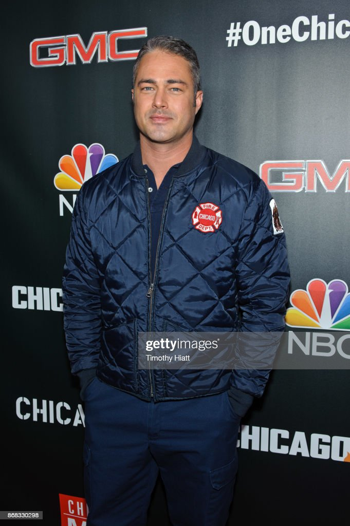 Taylor Kinney attends the press junket for 'One Chicago' on October 30, 2017 in Chicago, Illinois.