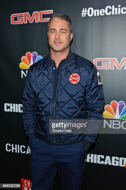 Taylor Kinney attends the press junket for 'One Chicago' on October 30 2017 in Chicago Illinois