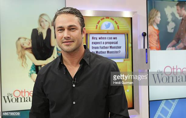 AMERICA Taylor Kinney is a guest on 'Good Morning America' 4/25/14 airing on the ABC Television Network