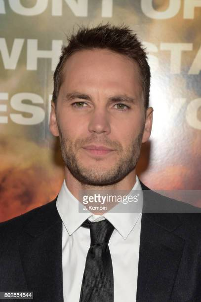 Taylor Kitsch attends 'Only The Brave' screening at iPic Theater on October 17 2017 in New York City