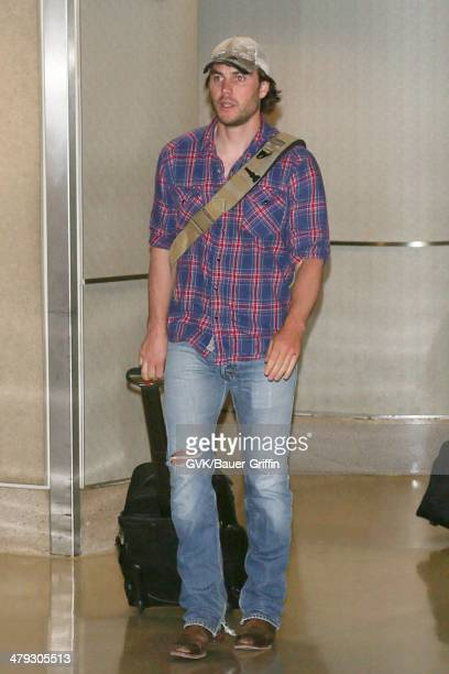 Taylor Kitsch is seen at LAX airport on March 17 2014 in Los Angeles California