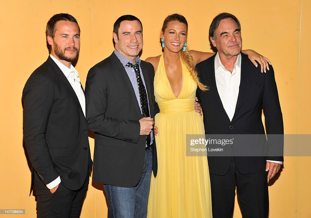 <a gi-track='captionPersonalityLinkClicked' href=/galleries/search?phrase=Taylor+Kitsch&family=editorial&specificpeople=745008 ng-click='$event.stopPropagation()'>Taylor Kitsch</a>, <a gi-track='captionPersonalityLinkClicked' href=/galleries/search?phrase=John+Travolta&family=editorial&specificpeople=178204 ng-click='$event.stopPropagation()'>John Travolta</a>, <a gi-track='captionPersonalityLinkClicked' href=/galleries/search?phrase=Blake+Lively&family=editorial&specificpeople=221673 ng-click='$event.stopPropagation()'>Blake Lively</a> and Director <a gi-track='captionPersonalityLinkClicked' href=/galleries/search?phrase=Oliver+Stone&family=editorial&specificpeople=173458 ng-click='$event.stopPropagation()'>Oliver Stone</a> attend the 'Savages' New York premiere at SVA Theater on June 27, 2012 in New York City.