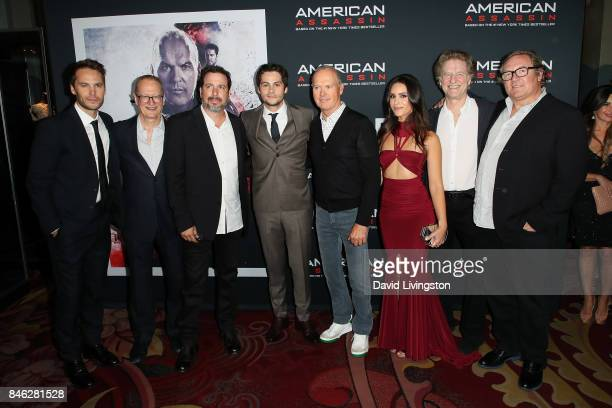 Taylor Kitsch Stephen Schiff Michael Cuesta Dylan O'Brien Michael Keaton Shiva Negar Nick Wechsler and Lorenzo di Bonaventura attend a Screening of...
