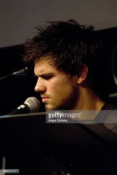 Taylor Lautner at the Film Independent at LACMA 'Boogie Nights' live read directed by Jason Reitman at Bing Theatre At LACMA on October 10 2013 in...