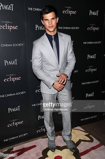 Taylor Lautner attends The Cinema Society Piaget host a screening of 'The Twilight Saga Eclipse' at the Crosby Street Hotel on June 28 2010 in New...