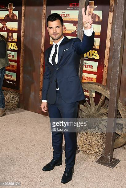 Taylor Lautner attends the premiere of Netflix's 'The Ridiculous 6' on November 30 2015 in Universal City California