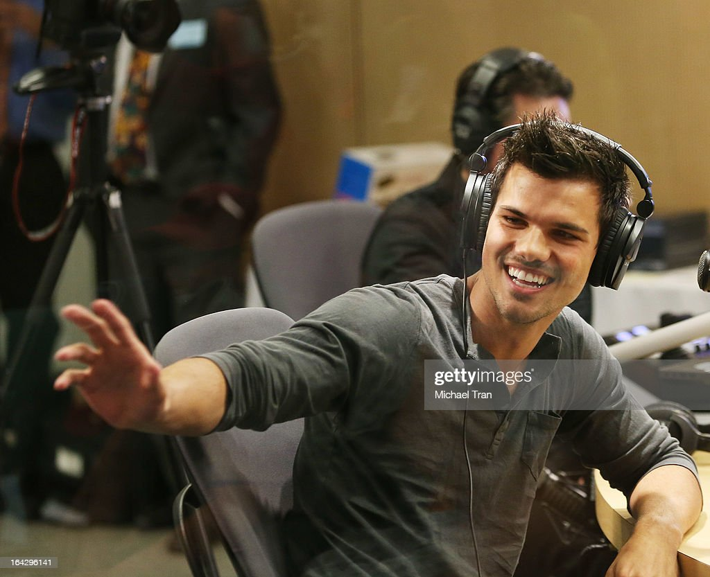 Taylor Lautner attends The Ryan Seacrest Foundation West Coast debut of new multi-media broadcast center 'Seacrest Studios' held at CHOC Children's Hospital on March 22, 2013 in Orange, California.